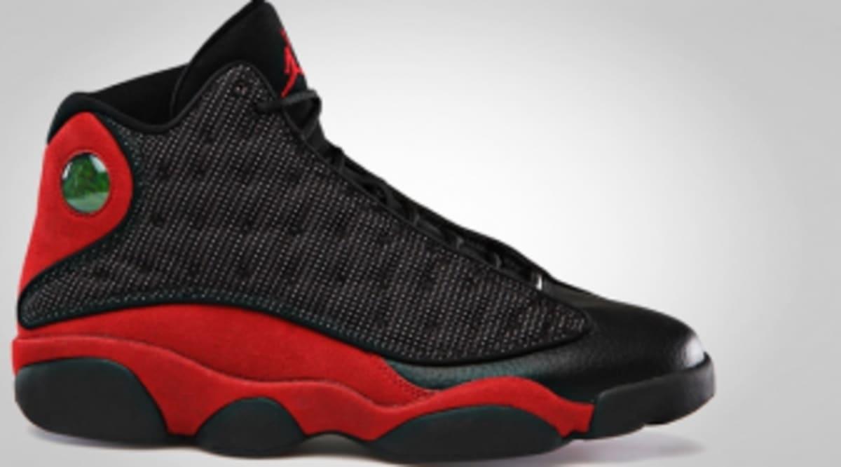 Air Jordan Retro 13 Black Varsity Red Official Images
