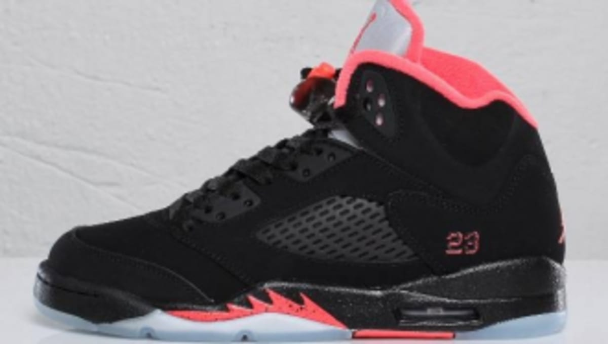 934f07dce04 Air Jordan Retro 5 GS - Black/Alarming Red - Detailed Images   Sole  Collector