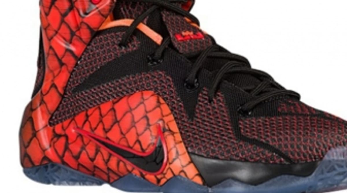 new style 6b078 5a12f nike lebron 12 low kids fish scale