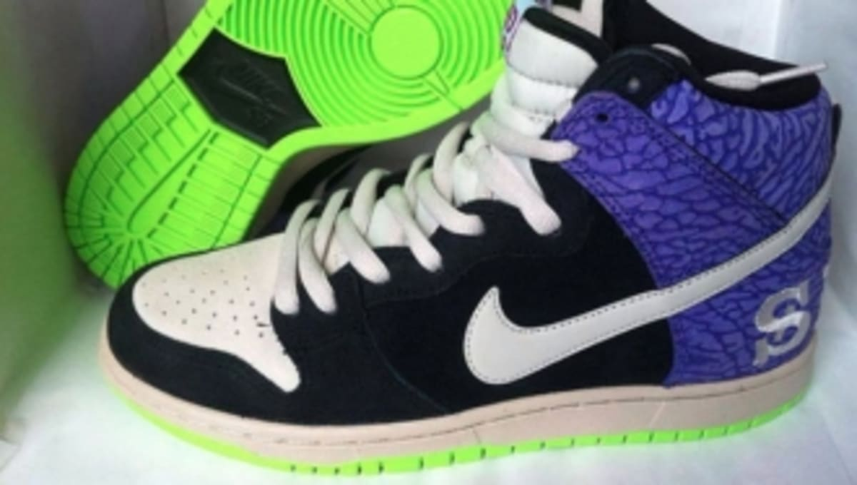 newest ea3cc c8404 First Look  Nike SB Dunk High - Send Help 2  Sole Collector