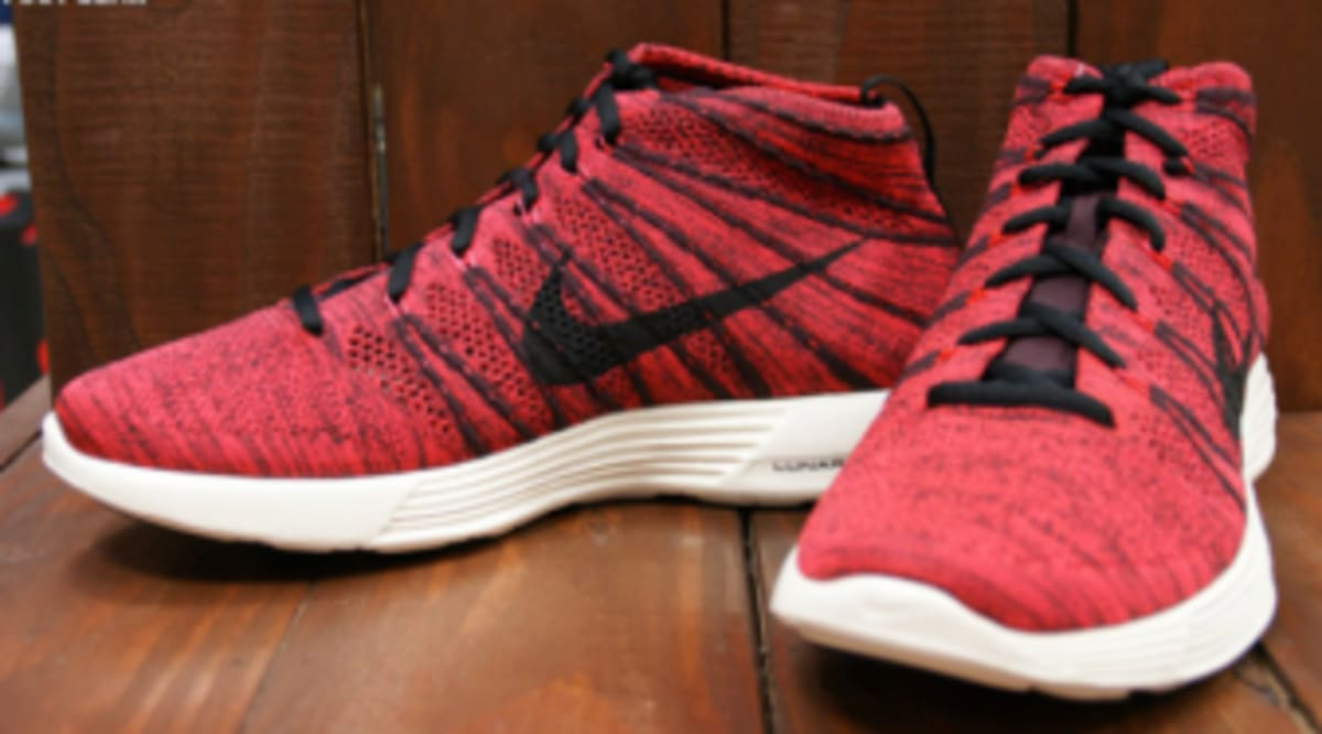 Nike Free Flyknit Chukka- Deep Burgundy Bright Crimson running shoes