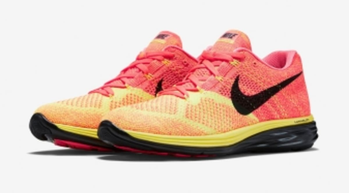 new arrival 8423b db4c1 ... real nike switches soles on the flyknit lunar 3 sole collector 12c8a  98f94