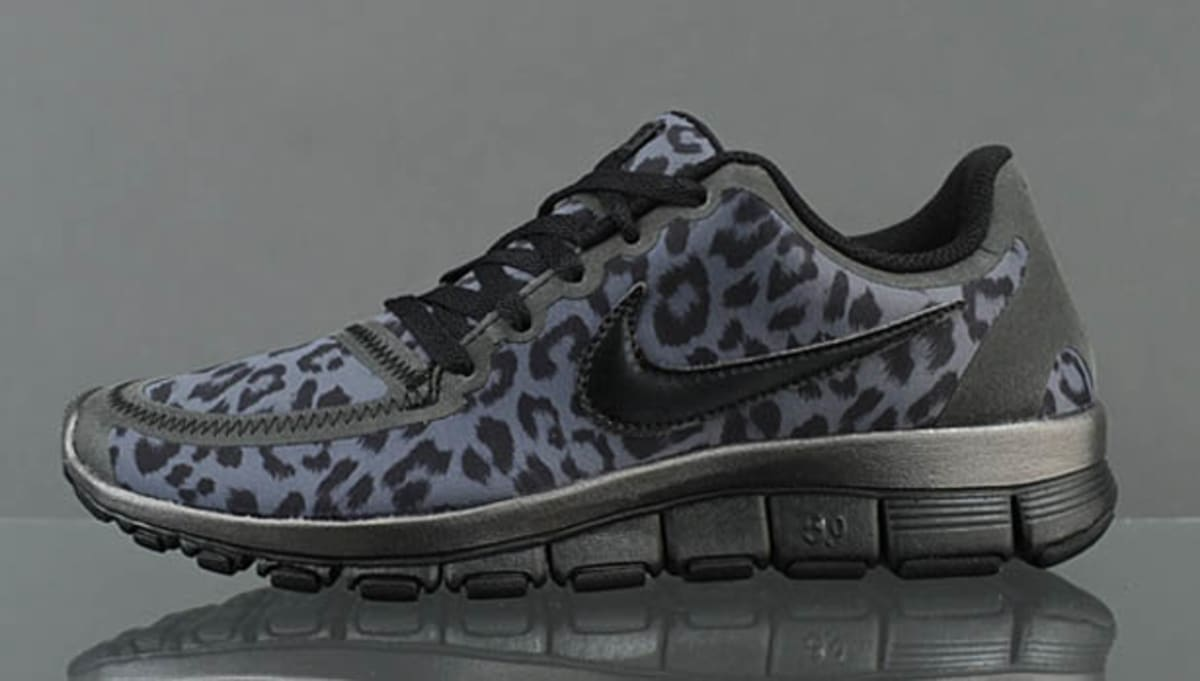 Leopard Print Running Shoe Grey