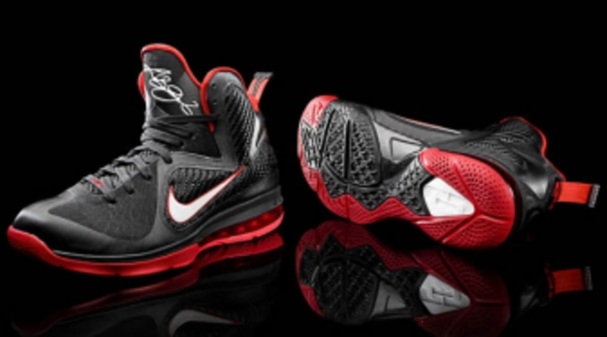 the best attitude 4bcfb 853d6 Nike LeBron 9 - Black White-Sport Red - Available to Pre-Order   Sole  Collector