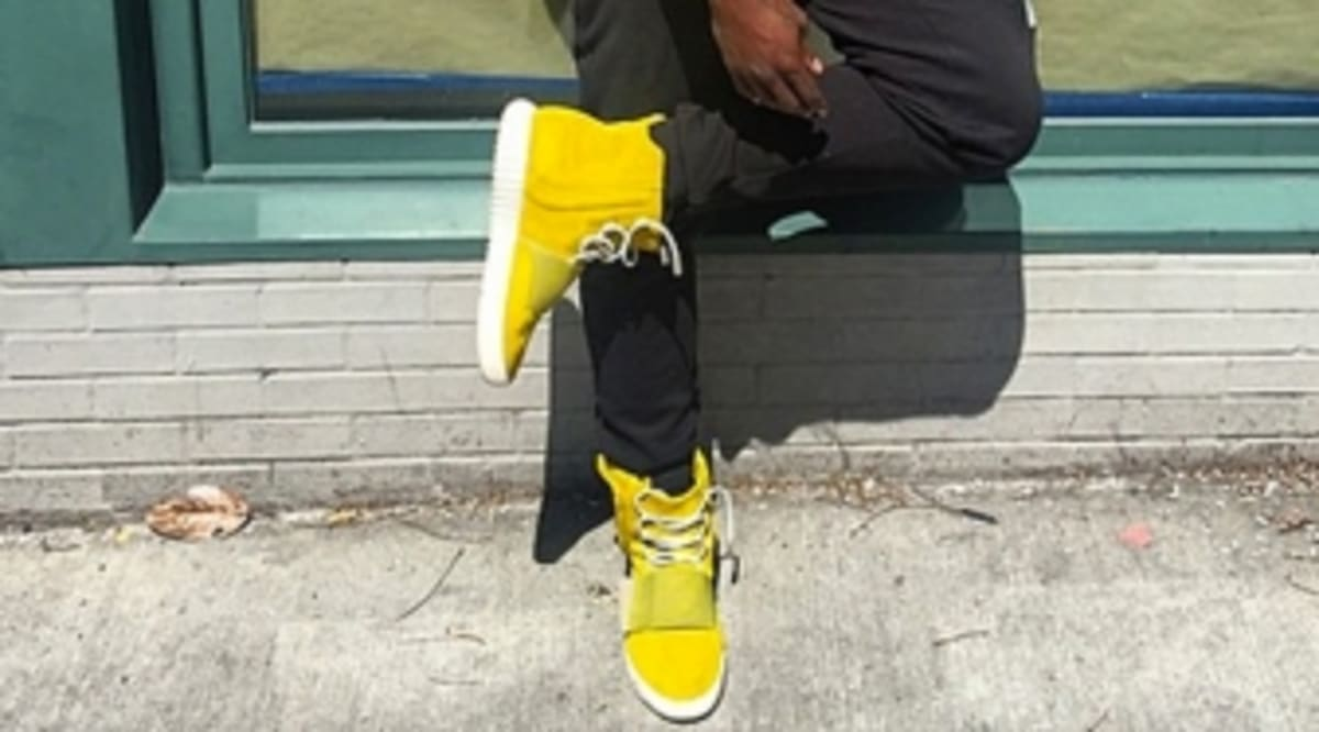 a0ef1ea7f0848 ... norway trinidad james adidas yeezy boosts turned yellow sole collector  6ff41 0169a
