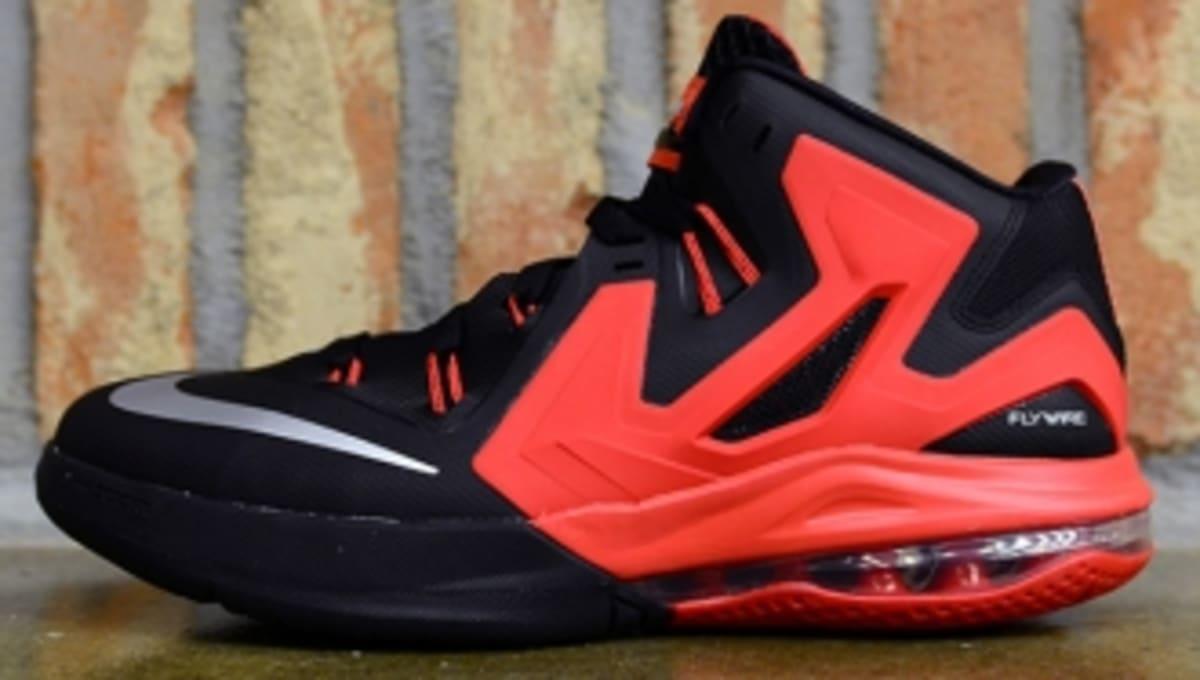bc7d2a85fb4 Nike LeBron Ambassador 6 - Black Metallic Silver-University Red ...