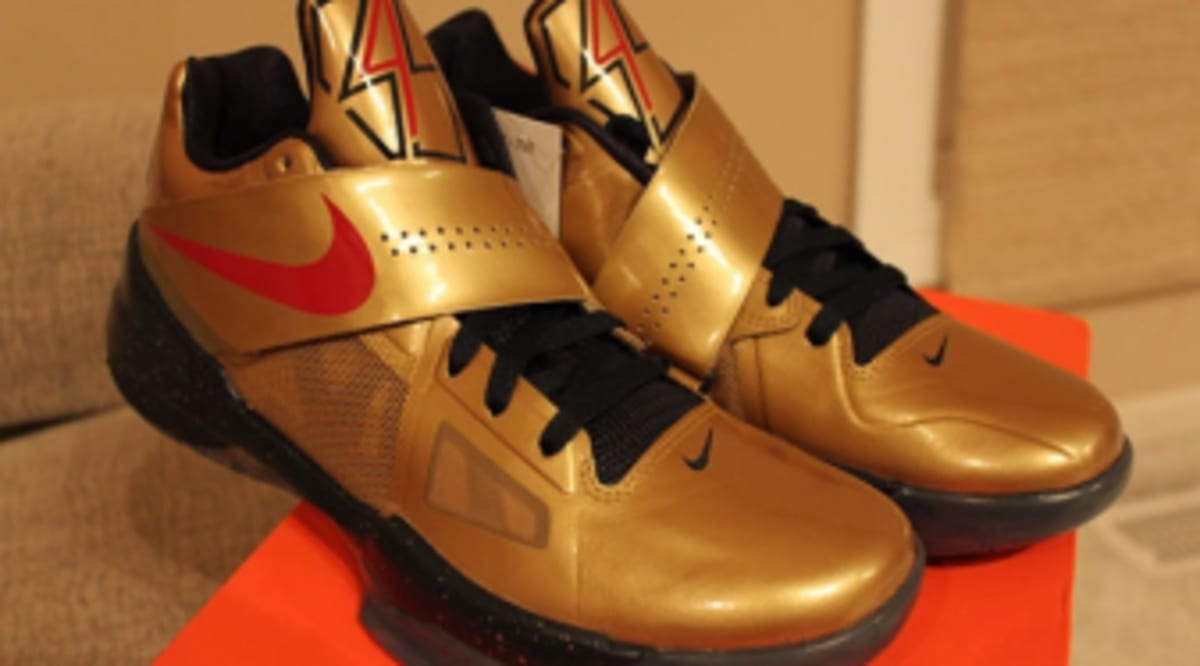 sports shoes 1ba63 d81ce Nike Zoom KD IV - Gold Medal   Sole Collector