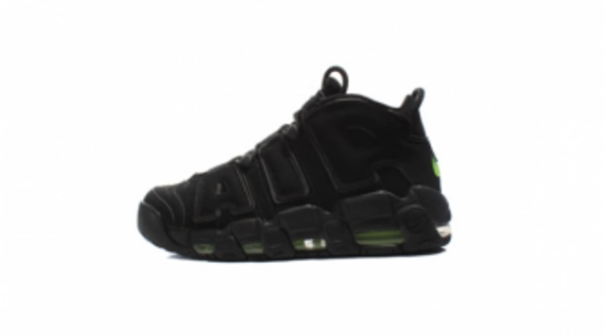 5784df63041 Nike Air More Uptempo - Black Volt - Detailed Look