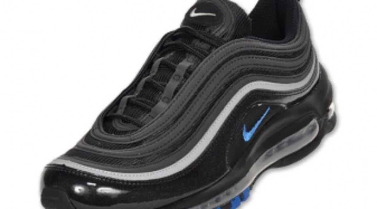 best service 8c42e 8f9db Nike Air Max 97 - Black Blue Sapphire-Metallic Silver   Sole Collector