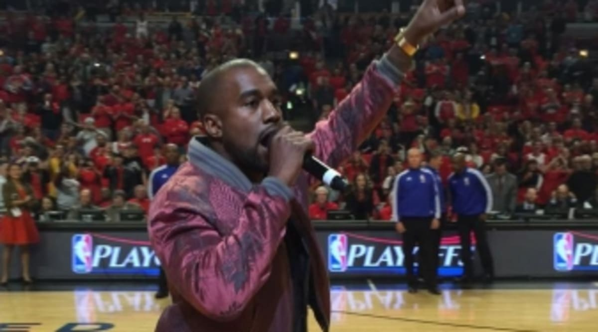 4192b8b84c1 Kanye West Is At The Bulls Game