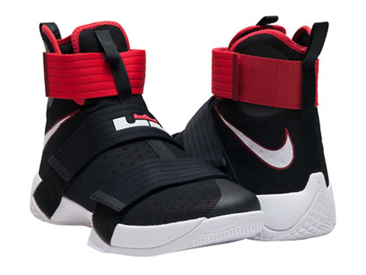 01395424881d Nike LeBron Soldier 10 Black White Red