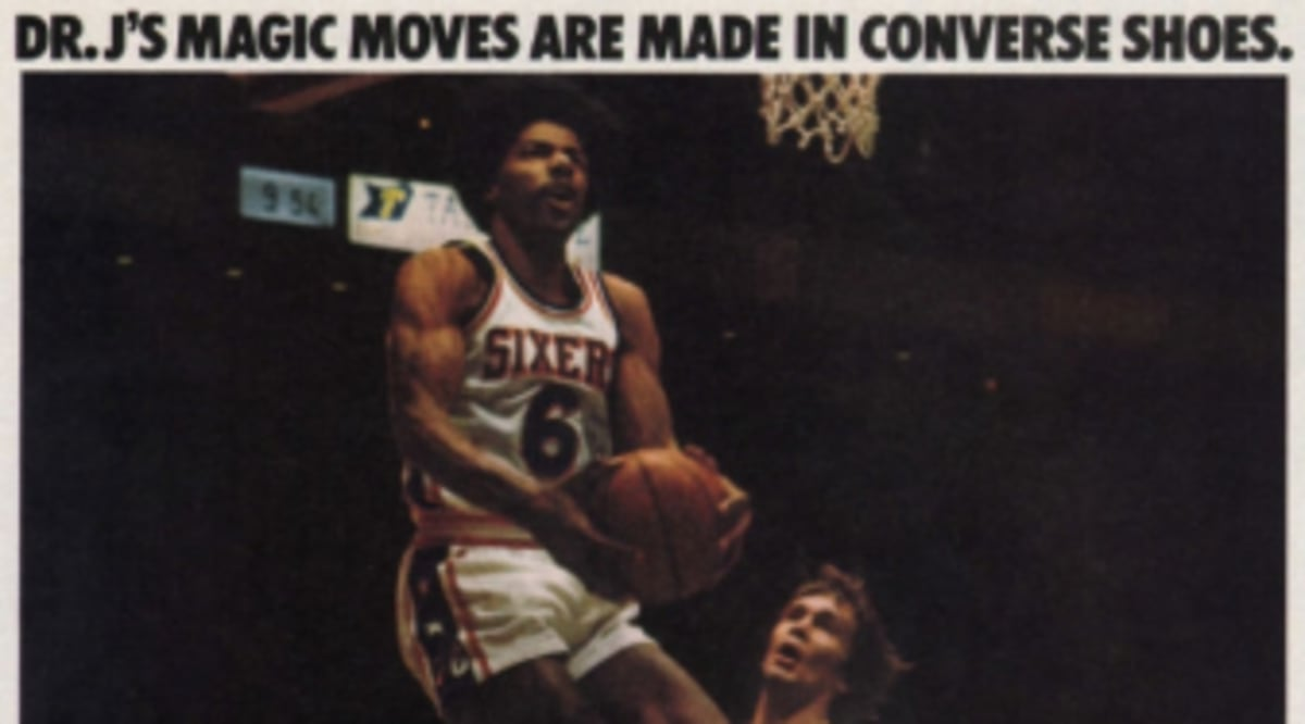b804b6c5ccdc Vintage Ad    Dr. J For Converse 1977