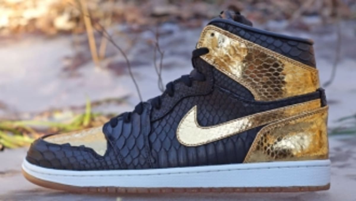 designer fashion 5eccb 9d8ff Air Jordan 1  NYE  Python by JBF Customs for Marcus Jordan