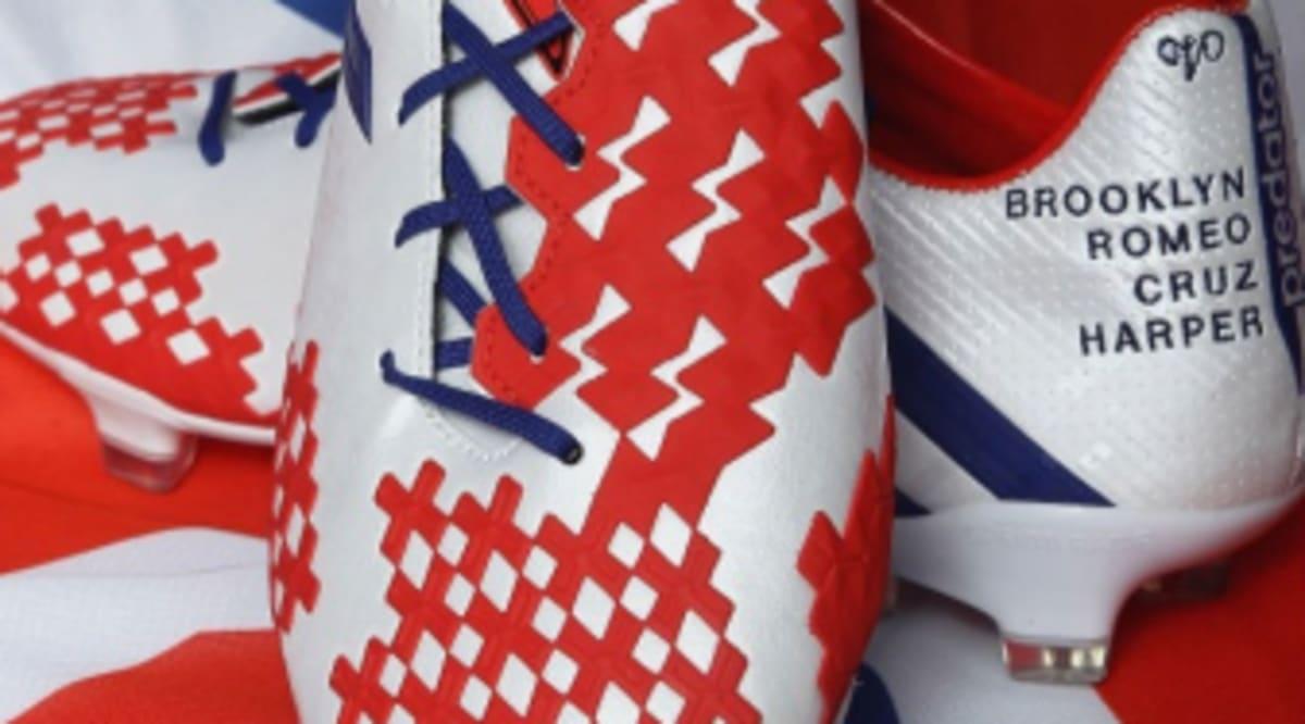 David Beckham s Retirement Game adidas Predator Lethal Zones Cleats ... 4ab58639ce9d