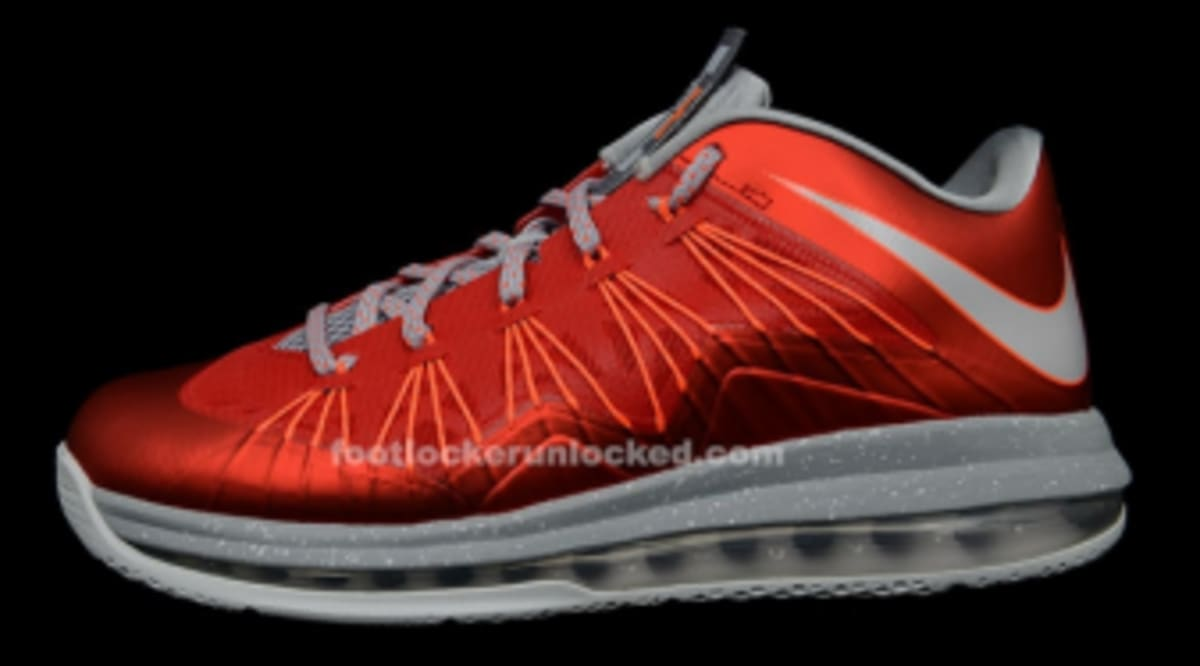 a857394644f Nike LeBron X Low - University Red   Pure Platinum - Stadium Grey ...