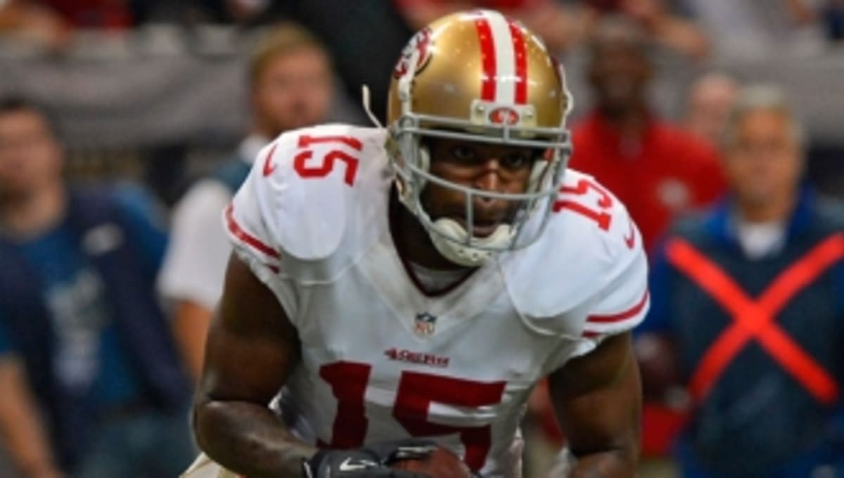 433cc77be ... release date michael crabtree wears black air jordan 6 cleats against  rams sole collector 49c81 eb88a