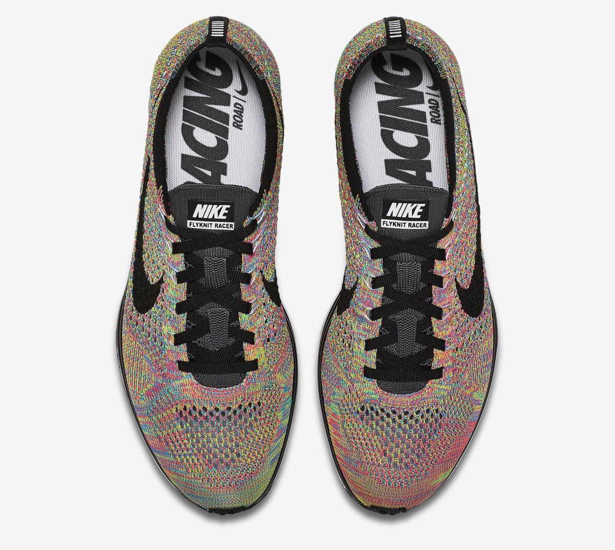 70ac1b039ffb Nike Flyknit Racer Multicolor Grey Tongue