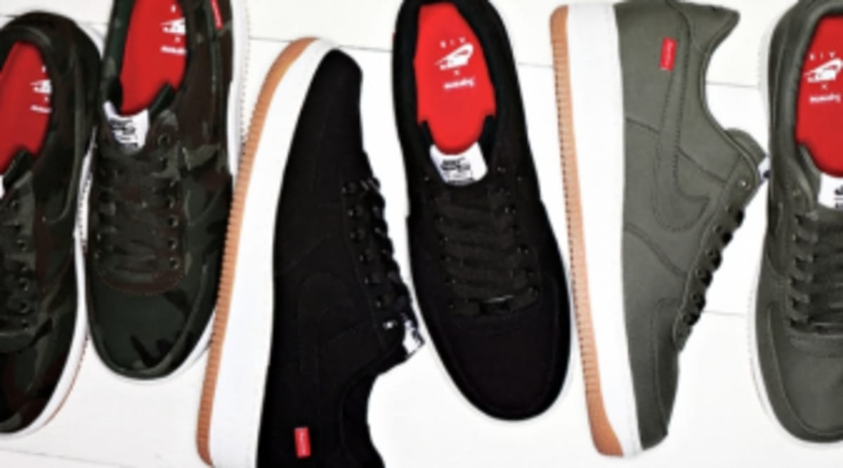 6aa398edc4 Supreme x Nike Air Force 1 - 30th Anniversary Collection | Sole ...