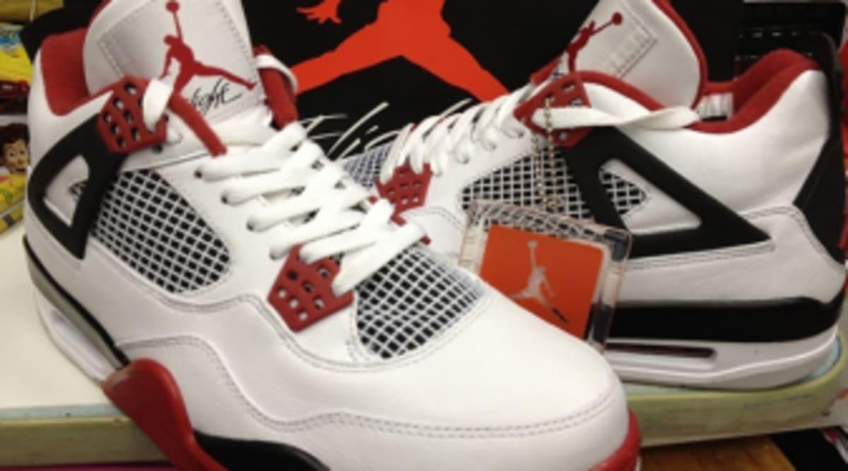 a1ee8557f5fe Air Jordan Retro 4 - White Varsity Red-Black