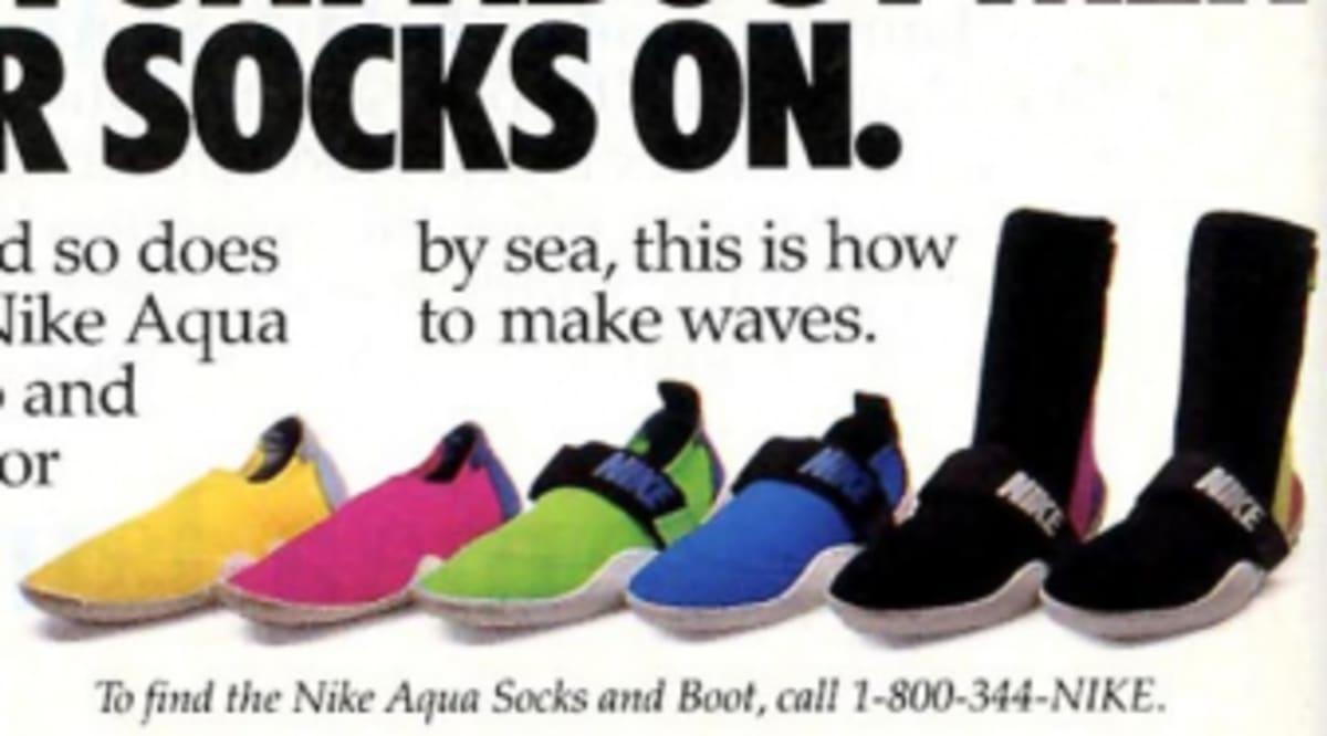 2bc53c6a180 Vintage Ad  Nike Aqua Socks