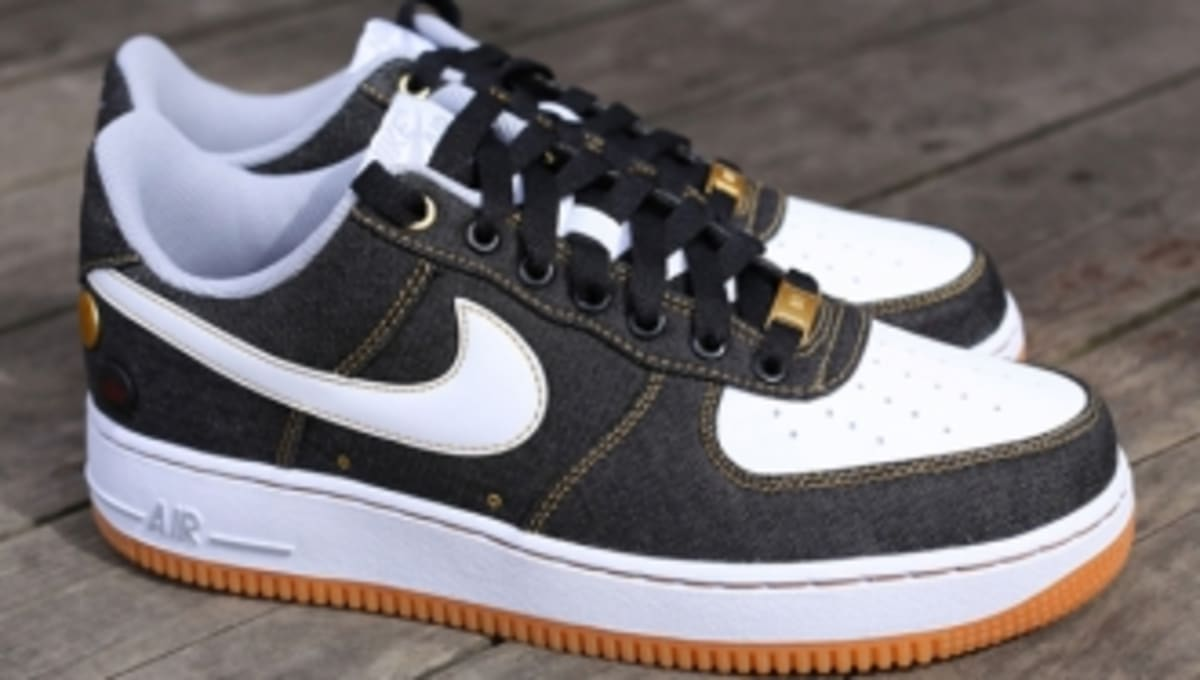 new style 7bbcb 8ecf6 Black Denim Takes Over The Nike Air Force 1 Low   Sole Collector