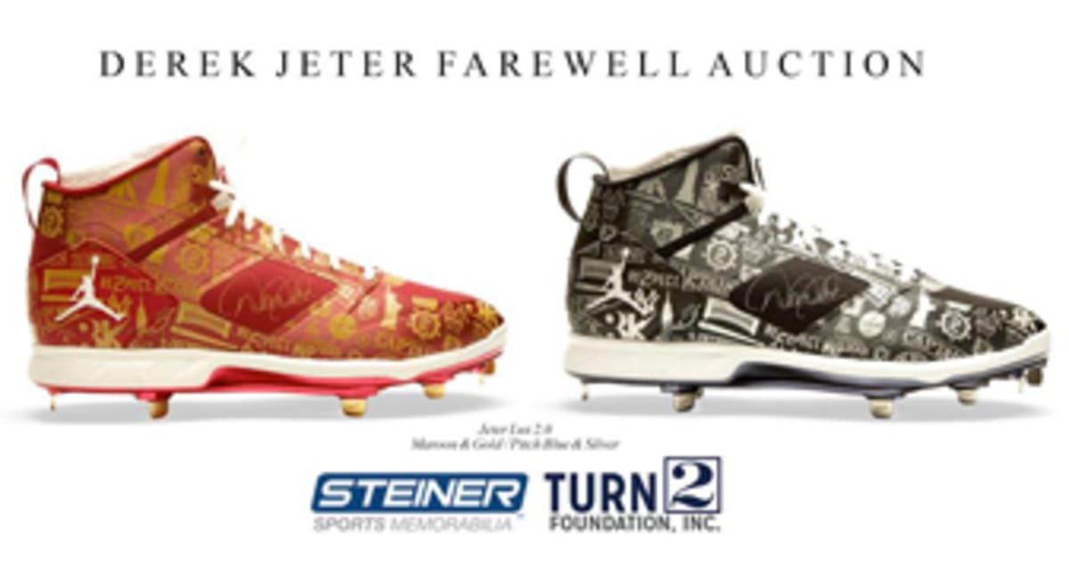 092abd50ee5 Derek Jeter's Final Player Exclusive Jordan Brand Cleats Up For Auction |  Sole Collector