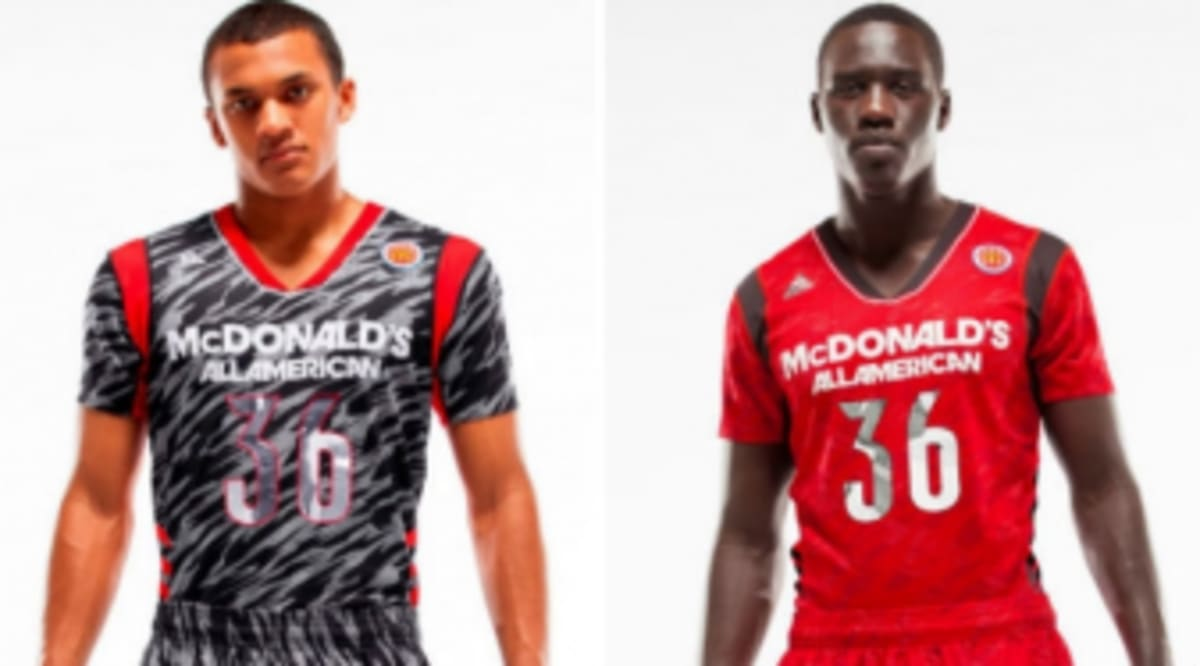 f27a8f9c1 adidas Unveils 2013 McDonald s All American Game Short Sleeve Uniforms