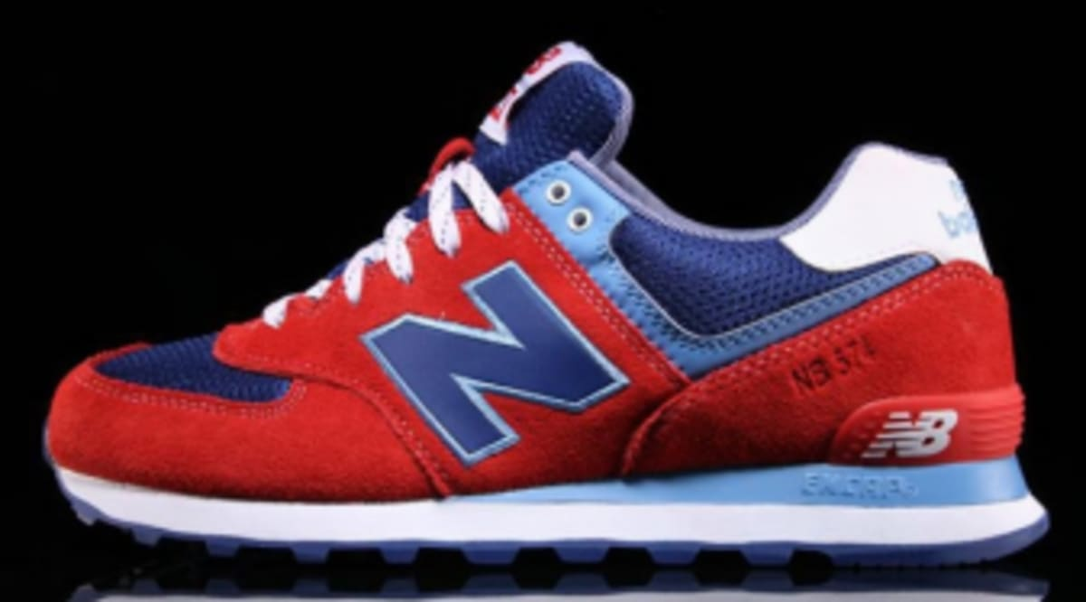 hot sale online 52512 3d73a New Balance 574 Red Royal Blue