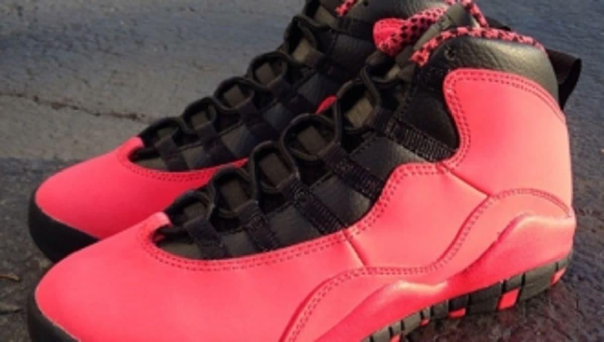 29b6471ee18fb3 Air Jordan 10 Retro GS - Fusion Red