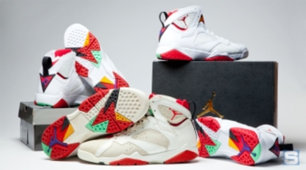 8561bc9676c9 How Do the 2015  Hare  Jordan 7s Compare to the Originals