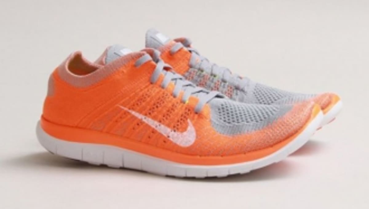 brand new a953c 8c2ed Nike Free Flyknit 4.0 - Wolf Grey Total Orange