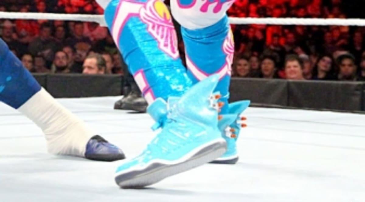 Kofi Kingston Wearing Jeremy Scott Adidas Shark Sneakers