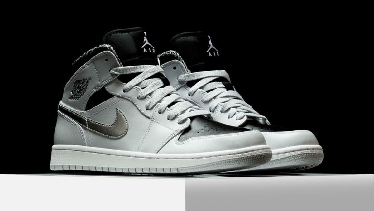 Air Jordan 1 Mid Pure Platinum Schuhe