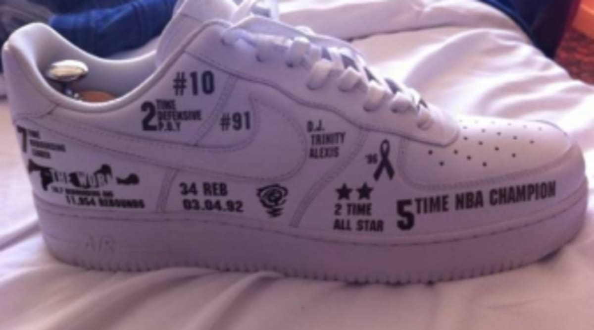 best website 7755d dc28a Nike Air Force 1 Customized for Dennis Rodman s Basketball Hall of Fame  Induction