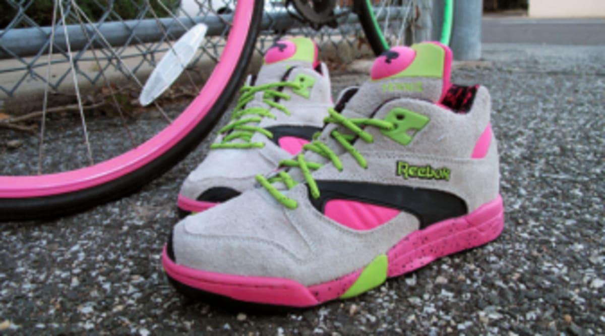Reebok Court Victory Pump - Grey   Pink   Green  64ec1613f008