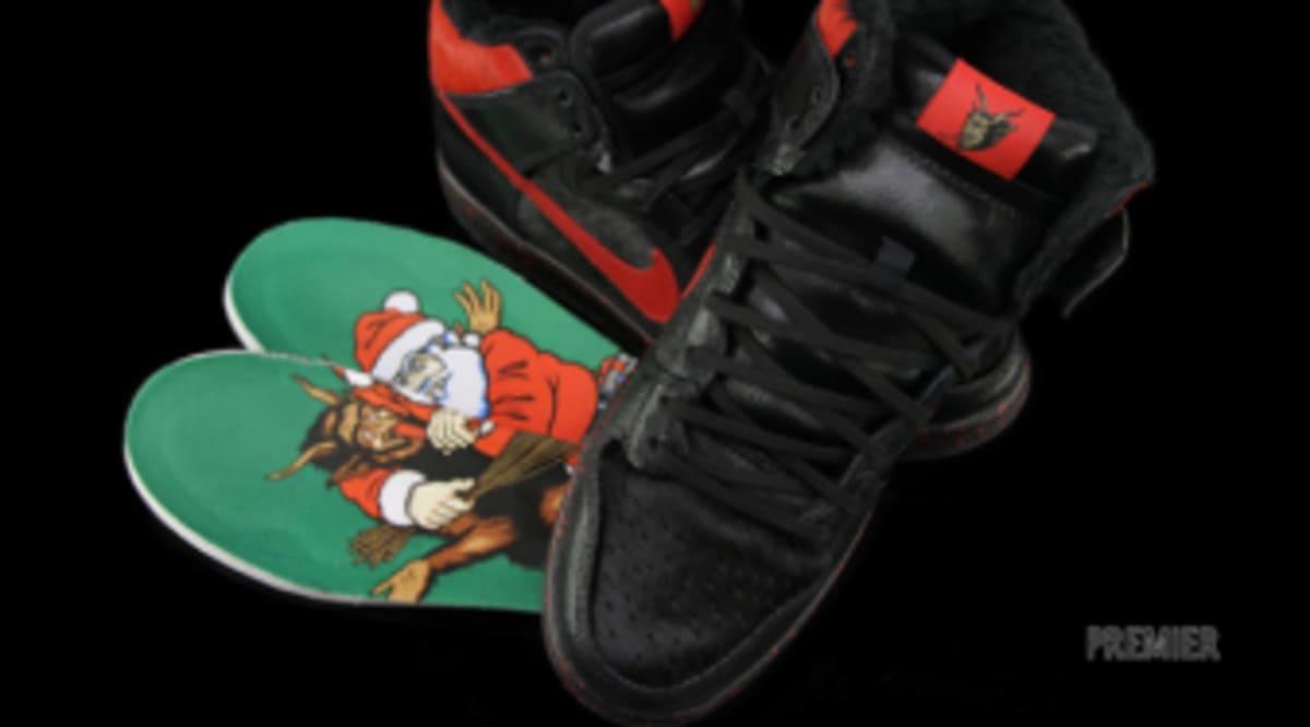 new style 945bd 21c21 ... Nike SB Dunk High Nike sb dunk high krampus christmas 2012,nike  huarache black ...