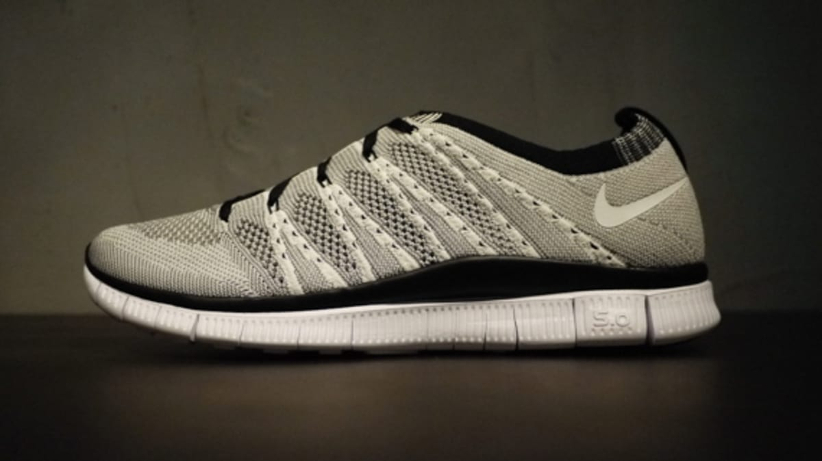 nike free flyknit 5.0 htm sp - white/light charcoal