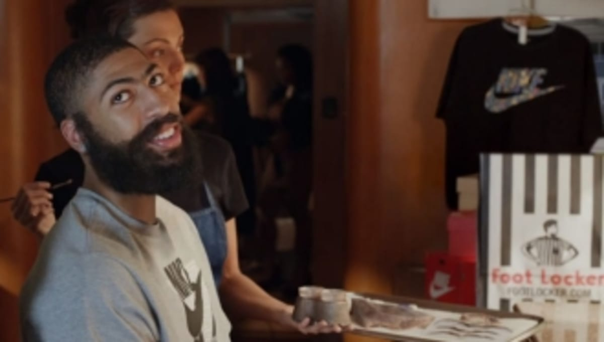 48a0a309f7d4 Video    Foot Locker Launches  Disguise  Featuring Anthony Davis and James  Harden