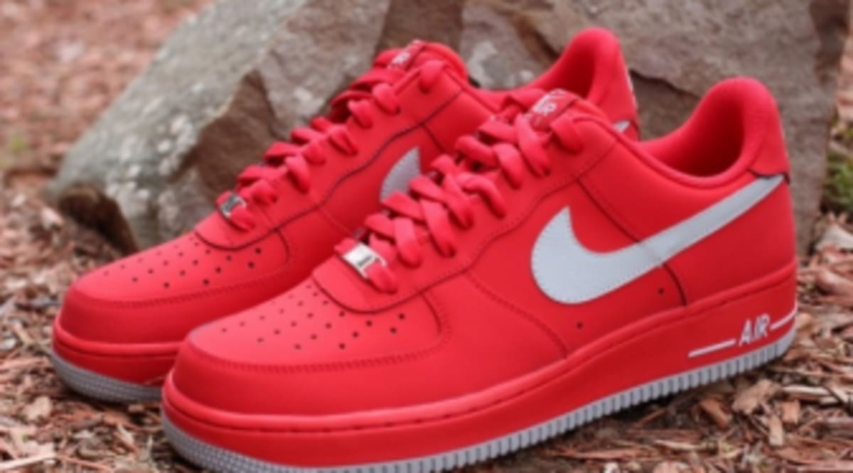 Nike Air Force 1 Low University Red Strata Grey