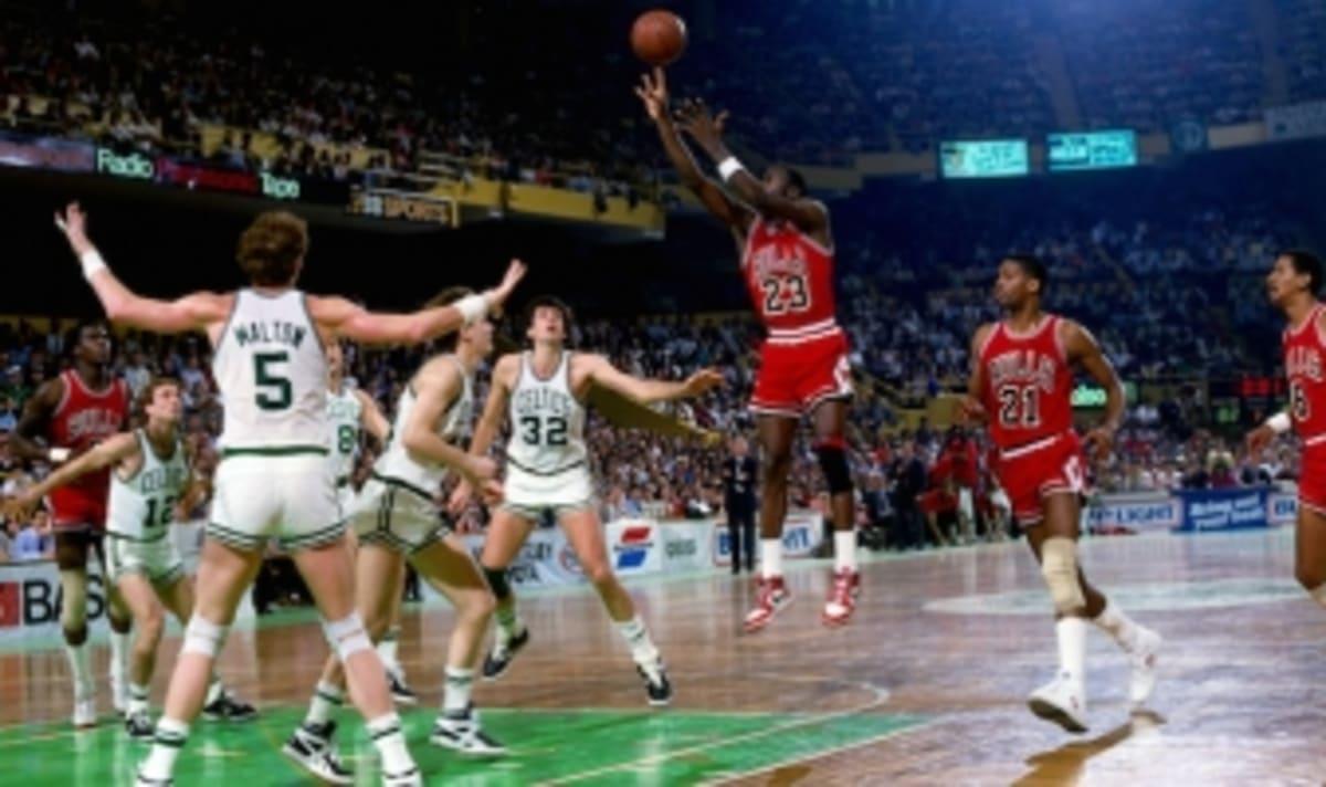 9c02ffb151bc Moments in Sneaker History  Michael Jordan Sets NBA Playoff Record at  Boston Garden