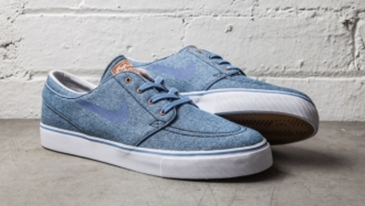 76c48fca69ef Blue Denim Takes Over The Nike SB Stefan Janoski