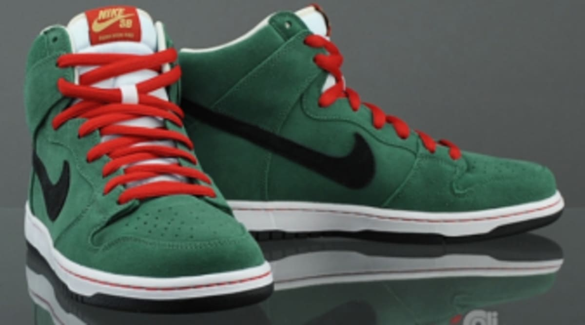 35f46d64de Nike SB Dunk High - Forest   Black   White   Varsity Red