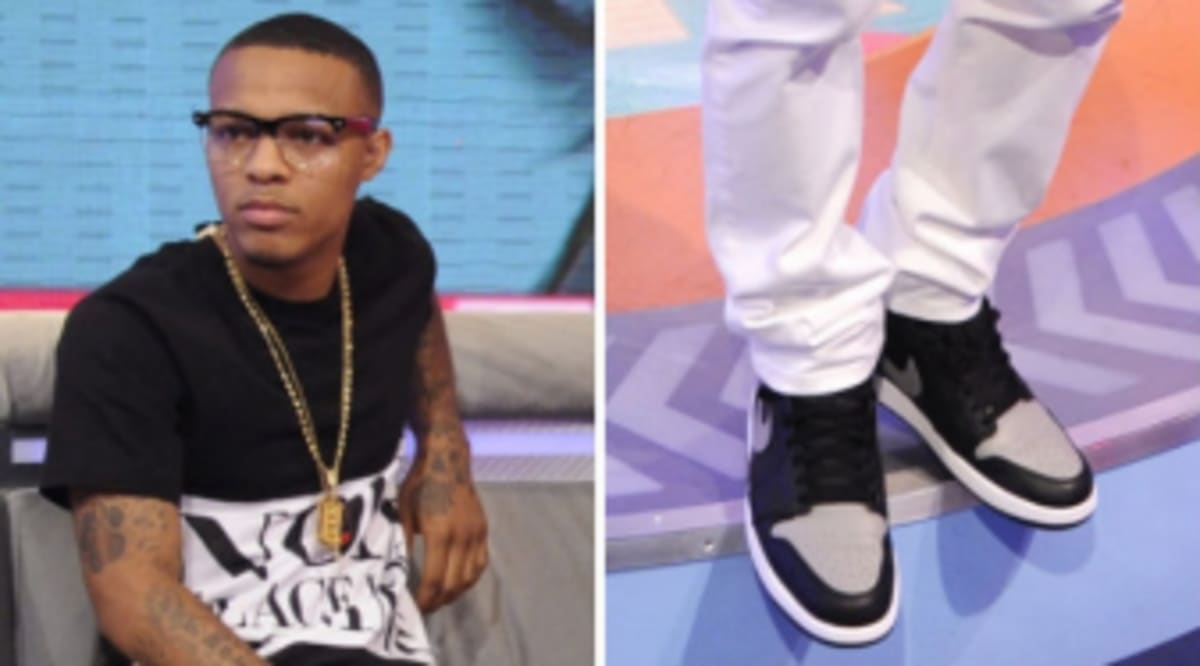 Bow Wow Wears Air Jordan 1 Retro High OG Black Grey  0409a3dc6