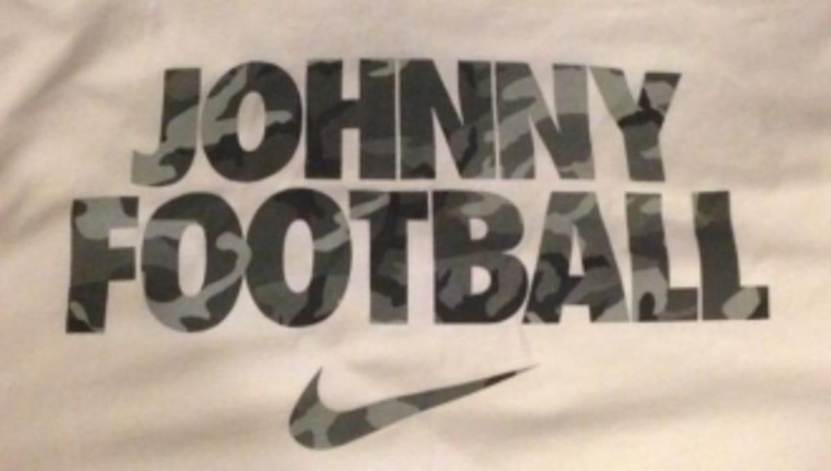 Johnny football 39 s agent previews new nike t shirt sole for T shirt printing brandon fl