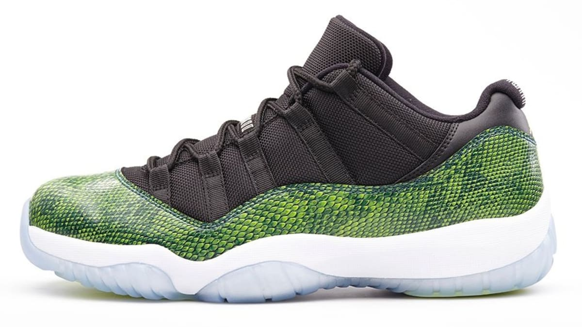nike air jordan 11 xi retro low green snakeskin nightshade plants