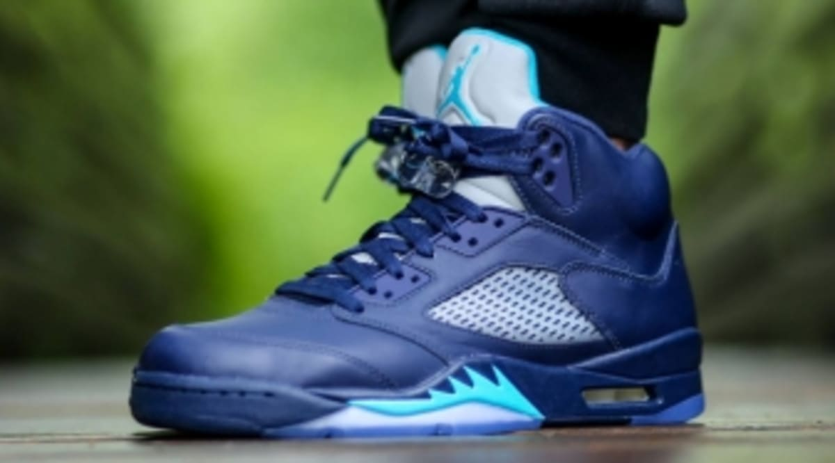 An On-Feet Look at the 'Hornets' Air Jordan 5 | Sole Collector