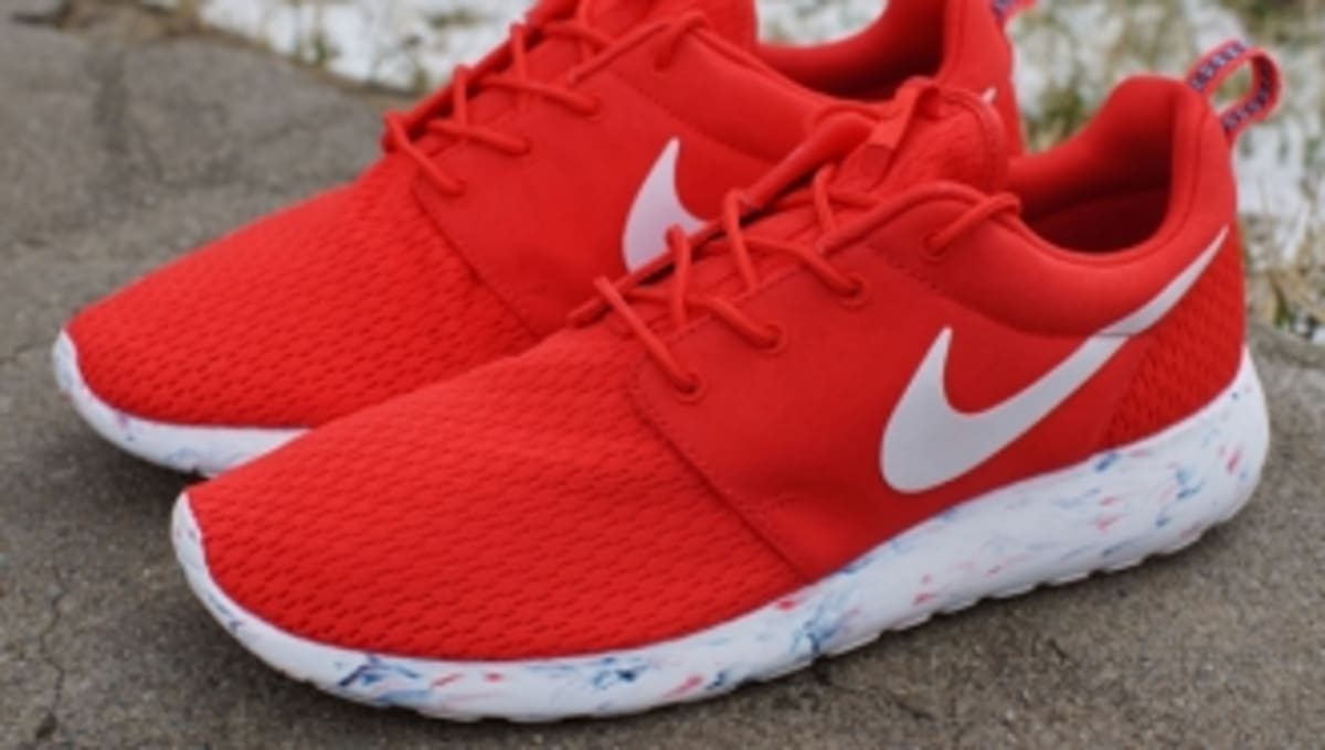 all red roshes and all white nike