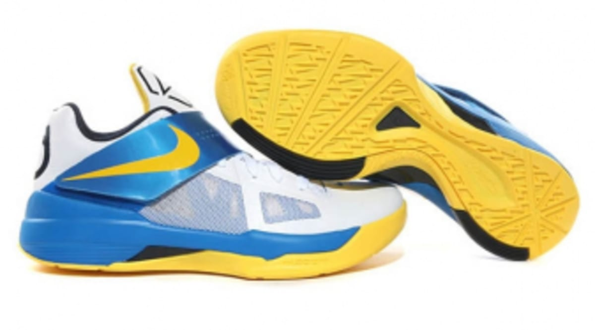 buy popular 538c6 7a555 Nike Zoom KD IV - White Tour Yellow-Photo Blue-Midnight Navy   Sole  Collector