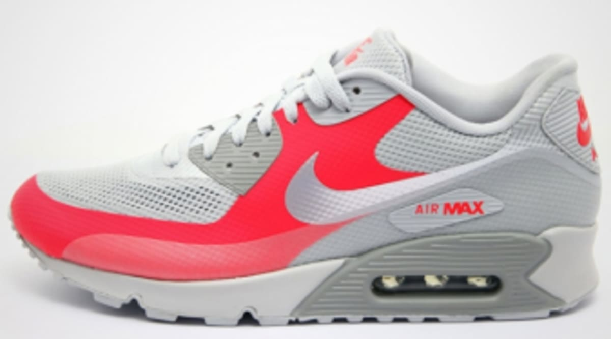 best sneakers aa142 38c1d Nike Air Max 90 Hyperfuse - Grey Silver-Solar Red - New Images