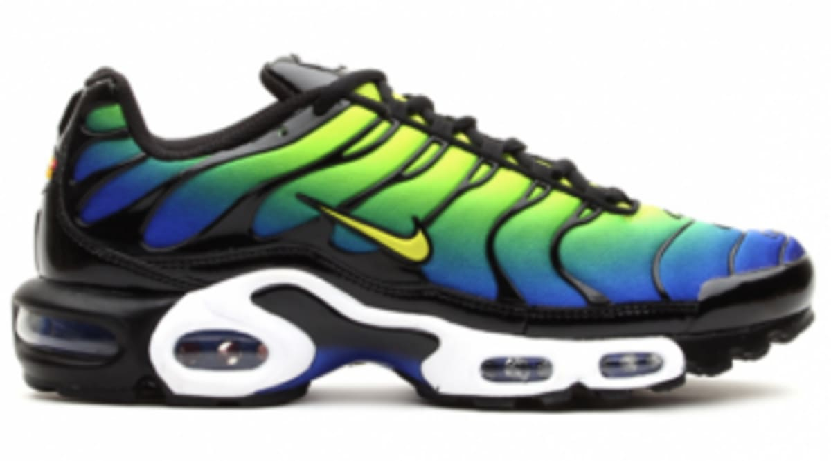nike air max plus blue and green